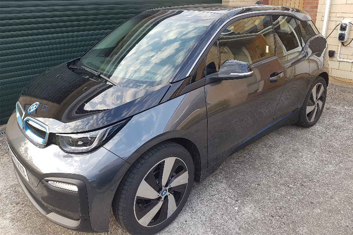 PlanningSphere's BMW i3 electric vehicle