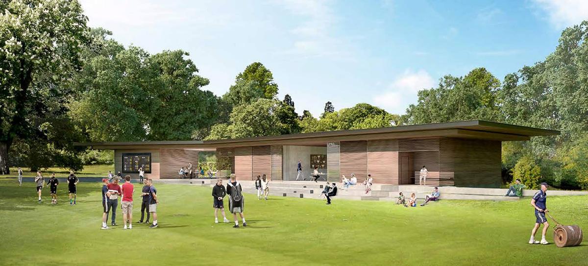 Hinton Charterhouse cricket pavilion